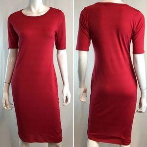 LuLaRoe Sheath Julia Bodycon Midi Pencil Dress